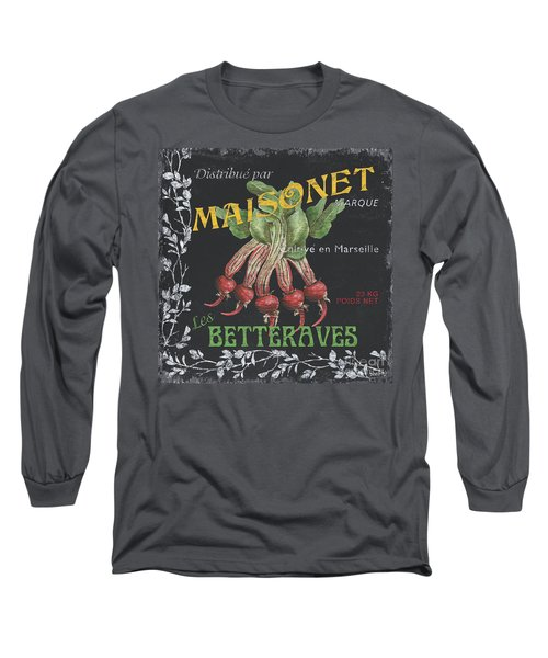 French Veggie Labels 2 Long Sleeve T-Shirt