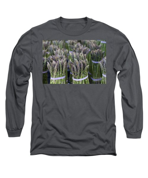 Fresh Asparagus Long Sleeve T-Shirt by Mike  Dawson