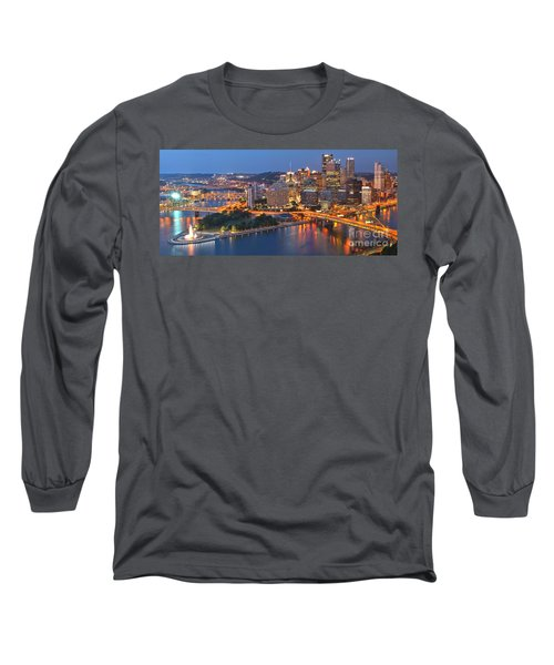 From The Fountain To Ft. Pitt Long Sleeve T-Shirt