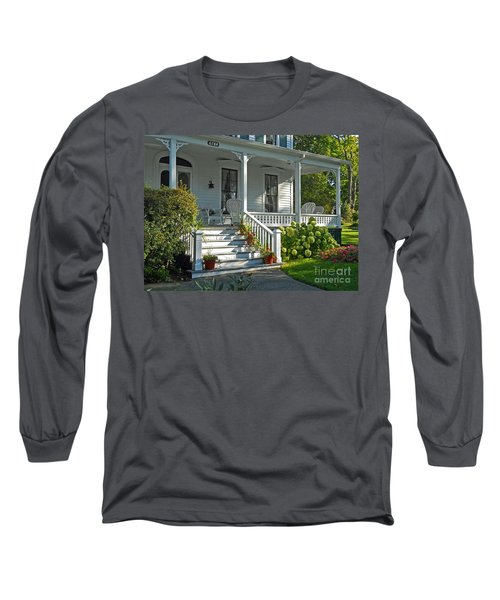 Front Porch In Summer Long Sleeve T-Shirt by Desiree Paquette