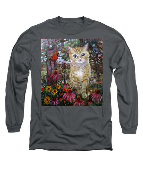Front Yard Kitty Long Sleeve T-Shirt