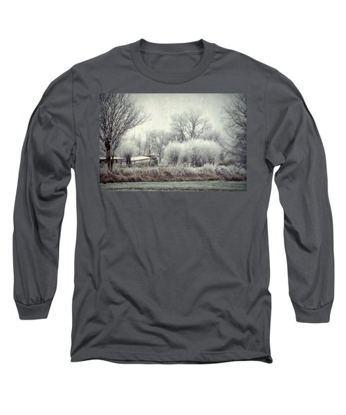 Long Sleeve T-Shirt featuring the photograph Frozen World by Annie Snel