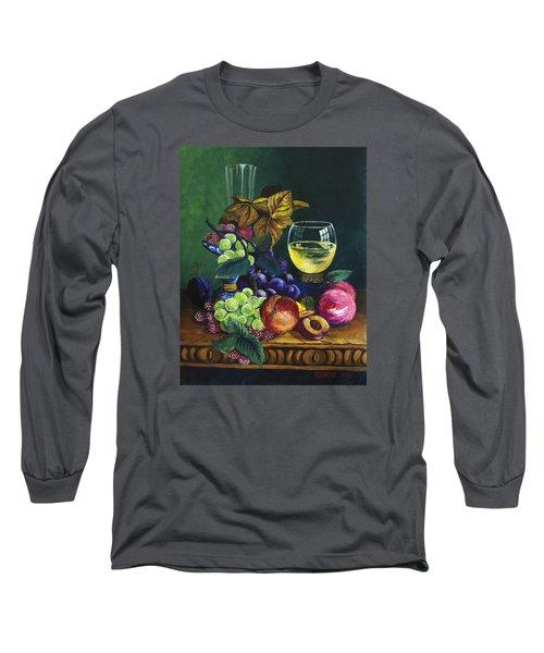 Fruit And Wine Long Sleeve T-Shirt by Karon Melillo DeVega