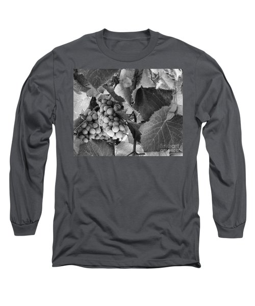 Fruit -grapes In Black And White - Luther Fine Art Long Sleeve T-Shirt