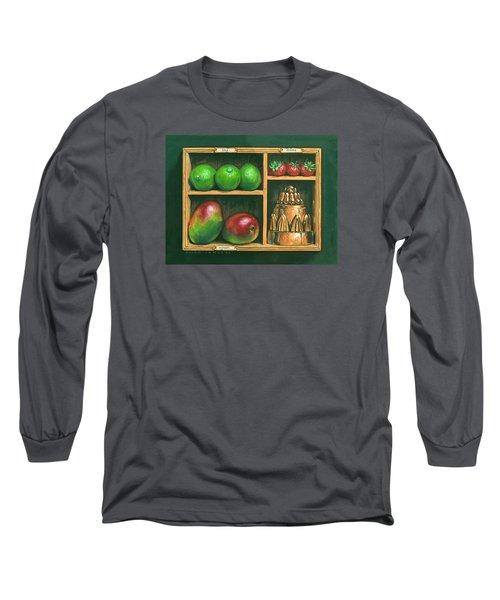 Fruit Shelf Long Sleeve T-Shirt by Brian James
