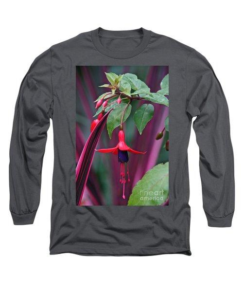 Fuchsia Delight Long Sleeve T-Shirt by Byron Varvarigos