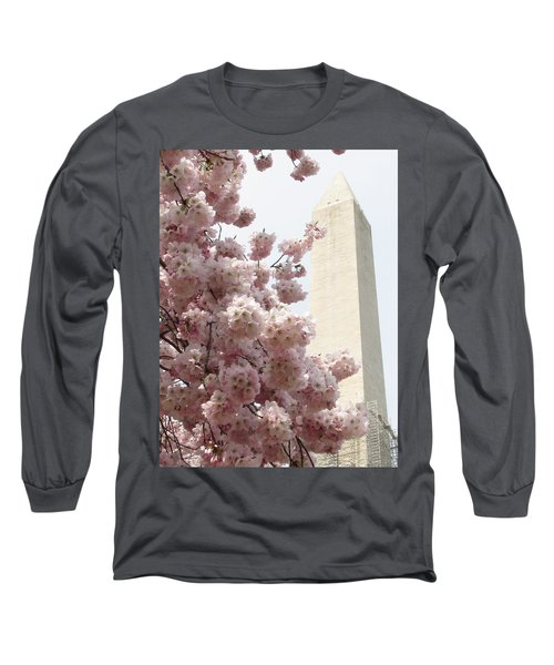Full Bloom In Dc Long Sleeve T-Shirt by Jennifer Wheatley Wolf