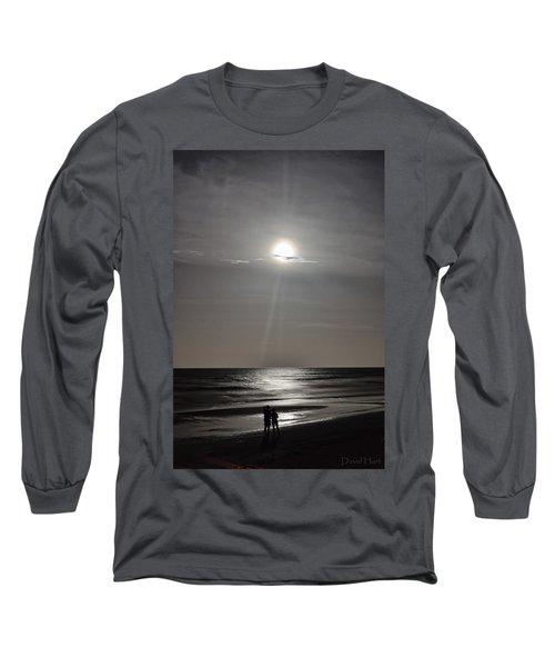 Full Moon Over Daytona Beach Long Sleeve T-Shirt