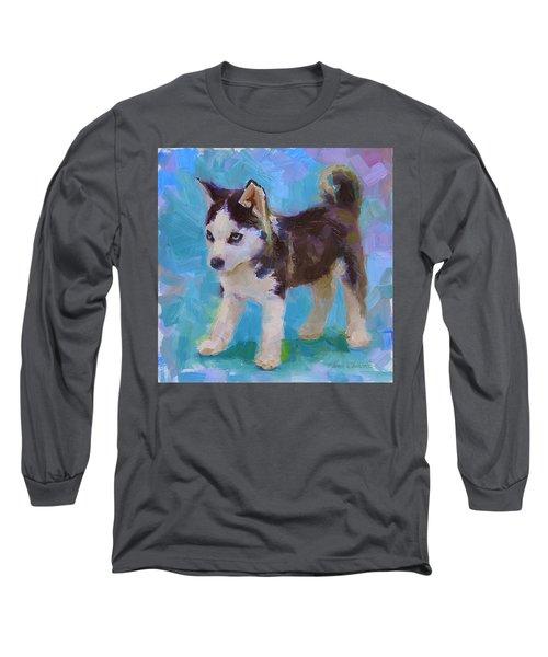 Alaskan Husky Sled Dog Puppy Long Sleeve T-Shirt