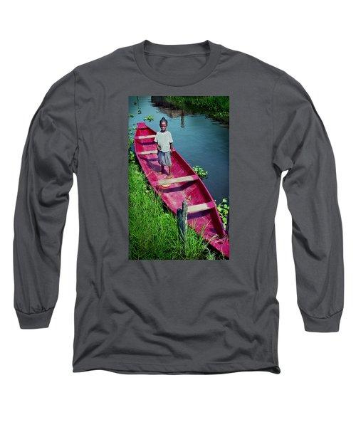 Dad's Canoe Long Sleeve T-Shirt