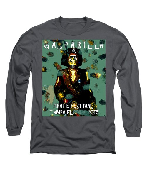Gasparilla Pirate Fest 2015 Full Work Long Sleeve T-Shirt by David Lee Thompson