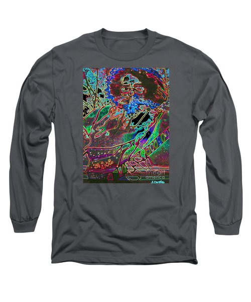 In And Out Of The Garden Stained Glass Long Sleeve T-Shirt