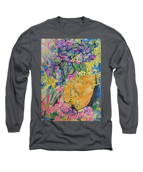 Garden Flowers In A Pot Long Sleeve T-Shirt