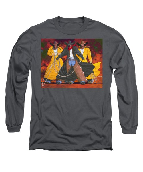 Long Sleeve T-Shirt featuring the painting Good Bad And Ugly by Lance Headlee