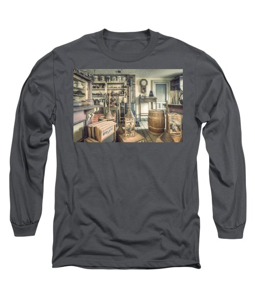 Long Sleeve T-Shirt featuring the photograph General Store - 19th Century Seaport Village by Gary Heller