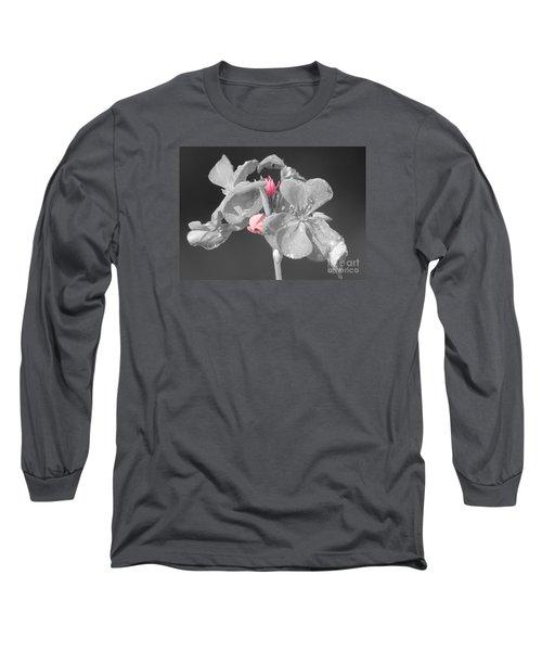 Geranium Long Sleeve T-Shirt by Cindy Manero