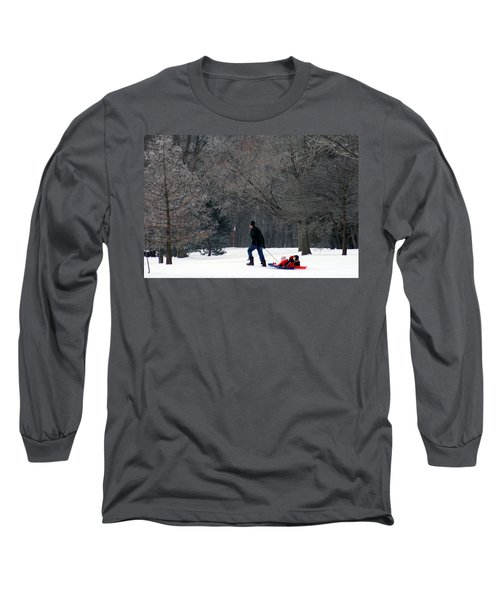 Long Sleeve T-Shirt featuring the photograph Getty-up Daddy by Kay Novy