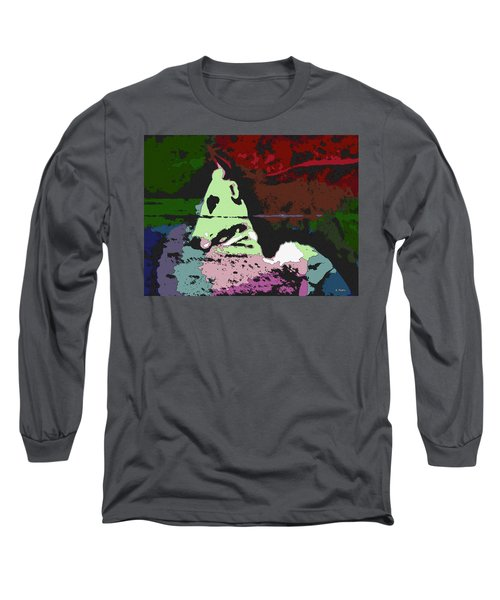 Ghost Cow Long Sleeve T-Shirt by George Pedro