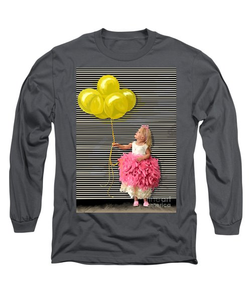 Gillian With Yellow Balloons Long Sleeve T-Shirt by Tim Gilliland