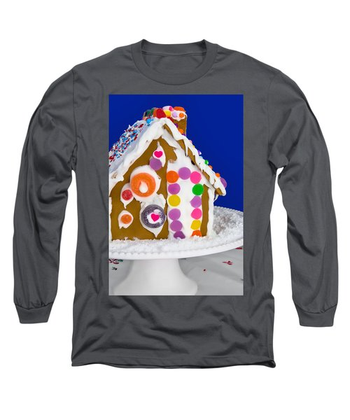 Long Sleeve T-Shirt featuring the photograph Gingerbread House by Vizual Studio