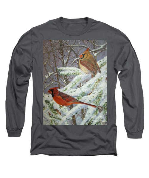 Long Sleeve T-Shirt featuring the painting Give Her Wings To Fly by Brenda Brown