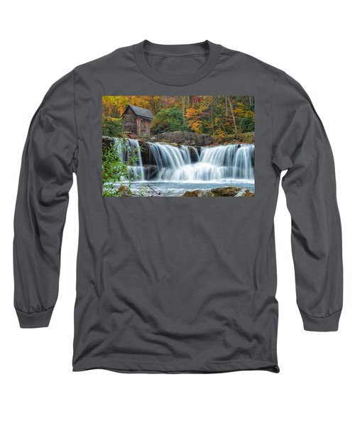 Glade Creek Grist Mill And Waterfalls Long Sleeve T-Shirt