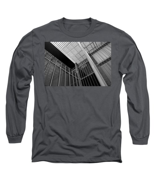 Glass Steel Architecture Lines Black White Long Sleeve T-Shirt