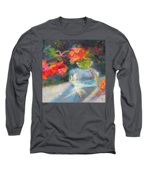 Gleaning Light Nasturtium Still Life Long Sleeve T-Shirt