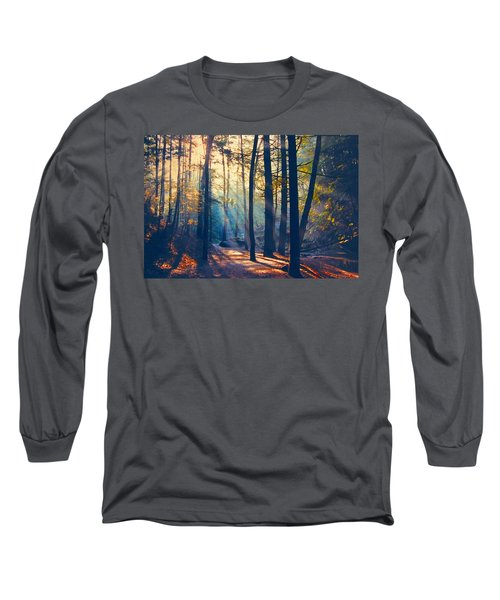 Glorious Forest Morning Long Sleeve T-Shirt by Diane Alexander