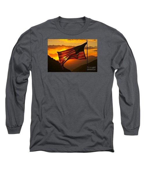 Glory At Sunset Long Sleeve T-Shirt by Michael Cinnamond