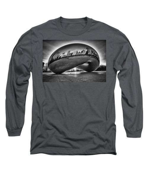 Glowing Bean Long Sleeve T-Shirt by Sebastian Musial