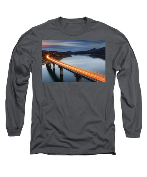Glowing Bridge Long Sleeve T-Shirt