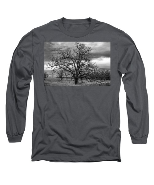 Long Sleeve T-Shirt featuring the photograph Gnarly Tree by Sennie Pierson