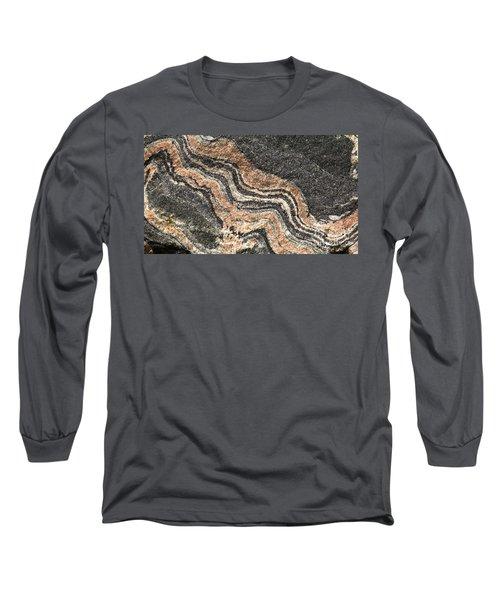Gneiss Rock  Long Sleeve T-Shirt by Les Palenik
