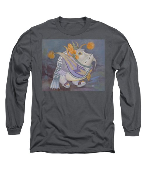 Long Sleeve T-Shirt featuring the painting Go Thai by Marina Gnetetsky