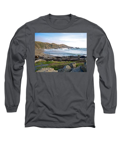 Goat Rock State Beach On The Pacific Ocean Near Outlet Of Russian River-ca  Long Sleeve T-Shirt