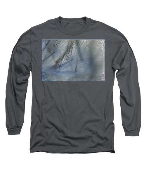 Long Sleeve T-Shirt featuring the photograph Goat's Beard Seed Macro by Sandra Foster