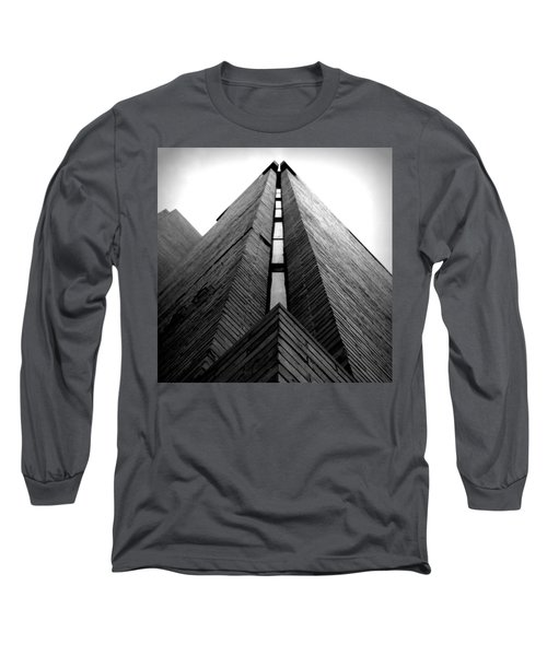 Goddard Stair Tower - Black And White Long Sleeve T-Shirt
