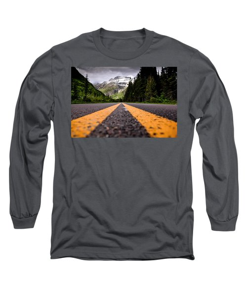 Going To The Sun Long Sleeve T-Shirt by Aaron Aldrich