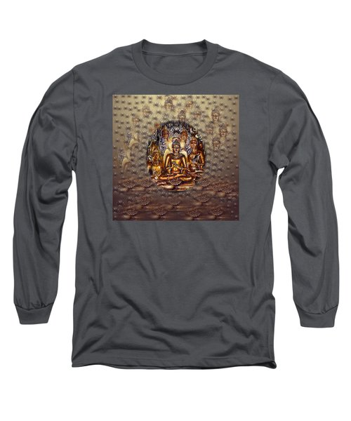 Gold Buddha Long Sleeve T-Shirt
