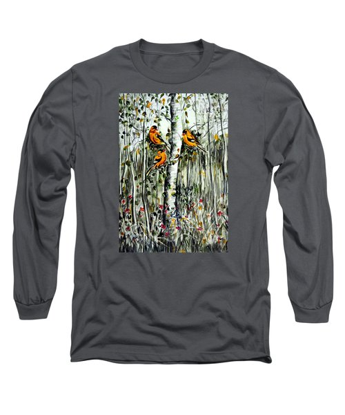 Gold Finches Long Sleeve T-Shirt