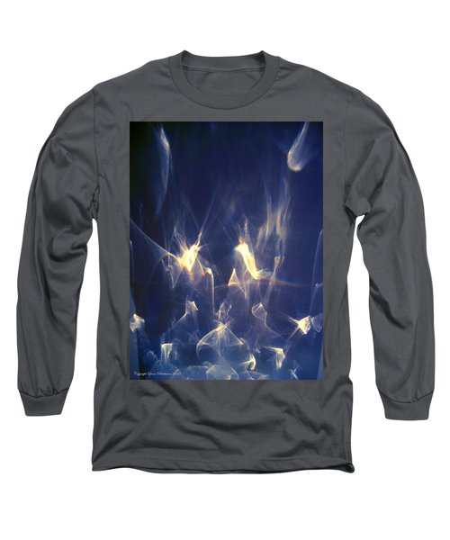 Golden Birds Long Sleeve T-Shirt by Leena Pekkalainen
