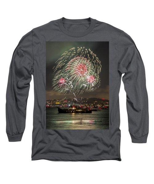 Golden Gate Bridge 75th Anniversary Fireworks 18 Long Sleeve T-Shirt