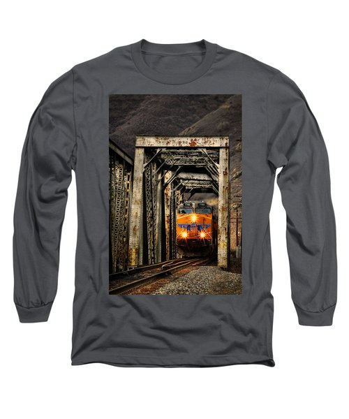 Long Sleeve T-Shirt featuring the photograph Golden Hour Crossing by Ken Smith