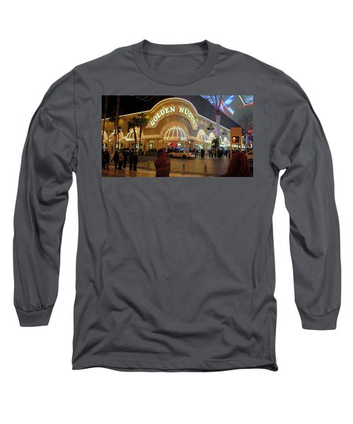 Golden Nugget Long Sleeve T-Shirt by Kay Novy