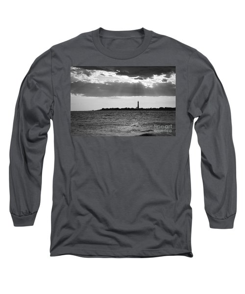 Golden Rays At Cape May Bw Long Sleeve T-Shirt