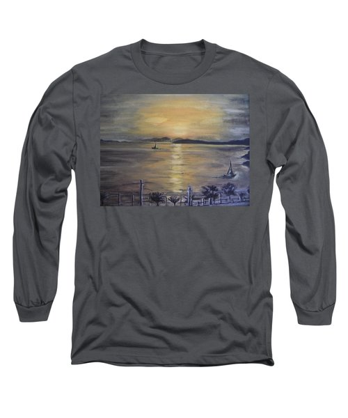 Golden Sea View Long Sleeve T-Shirt