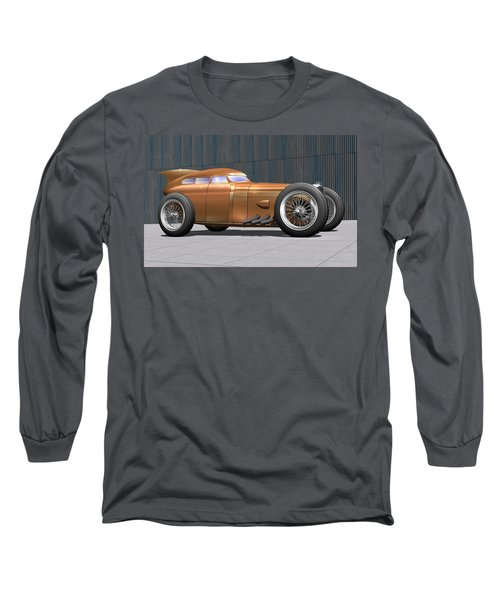 Golden Submarine Long Sleeve T-Shirt by Stuart Swartz