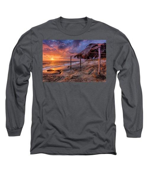Golden Sunset The Surf Shack Long Sleeve T-Shirt