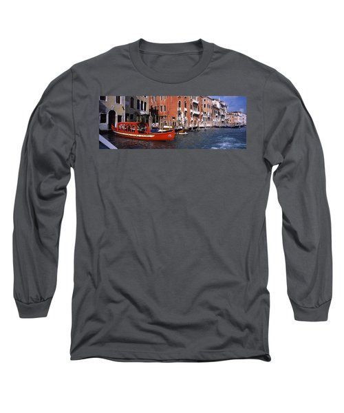 Gondolas In A Canal, Grand Canal Long Sleeve T-Shirt